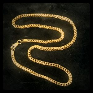 14K 24 inch Titanium Steel braided chain